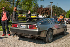 DeLorean DMC-12 rear side view Royalty Free Stock Photo