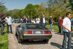 DeLorean DMC-12 rear view Stock Images