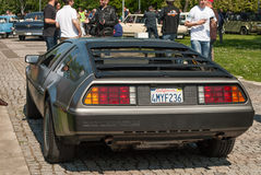 DeLorean DMC-12 rear view stock photos