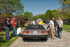 DeLorean DMC-12 rear view open doors royalty free stock image