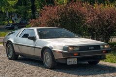 DeLorean dmc-12 zijaanzicht Royalty-vrije Stock Foto