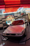 DeLorean at Fremont Street in Las Vegas Royalty Free Stock Photography