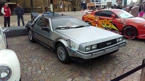 DeLorean Z powrotem przyszłość Zdjęcia Stock