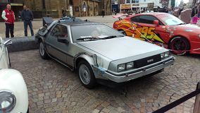 DeLorean zurück zu der Zukunft Stockfotos
