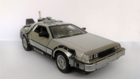Delorean - zurück zu der Zukunft 1 und Auto 2 Stockfotos
