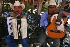 Delores Hidalgo Mexico-Januari 10, 2017: Mariachimusiker Arkivfoto