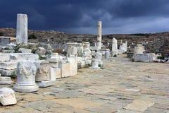 Delos ö, Grekland Arkivbild
