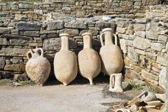 Delos Amphora stock photography