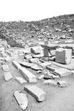 In delos greece the historycal acropolis and old ruin site. In delos greece the     historycal acropolis and old ruin site Stock Image