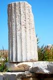 In delos greece the historycal   site. In delos greece the    historycal acropolis and old ruin site Stock Images