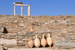Delos island in Greece. Stock Photography