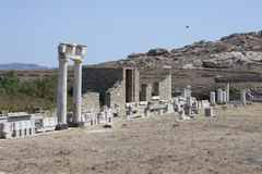 Delos island Royalty Free Stock Photography