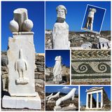 Delos Photo Collage,Greece Stock Image