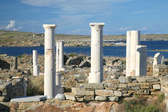 Delos Ruins, Greece Royalty Free Stock Photo