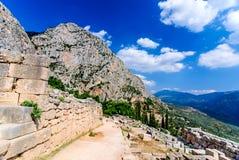 Delphes, Grèce photo stock
