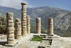 Delphes - le temple d'Apollo Photographie stock