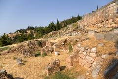 Delphi. Alte Ruinen Stockfotografie