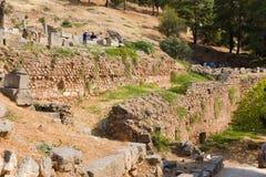 Delphi. Alte Ruinen Lizenzfreies Stockfoto