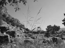 Delphi. Ancient Greece Delphi Athena temple Royalty Free Stock Photo