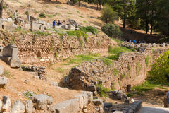Delphi. Ancient ruins royalty free stock photo