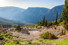 Delphi ancient sanctuary, Greece Stock Photo