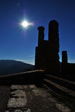 Delphi columns - greece. Delphi columns - archaeological place in greece stock photo