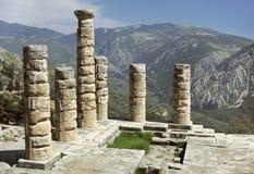 Delphi - de Tempel van Apollo Stock Fotografie