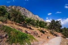 delphi greece royaltyfri fotografi