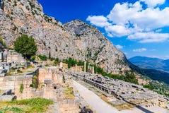 delphi greece royaltyfri foto