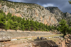 delphi greece Arkivfoto