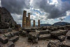 delphi greece Arkivbilder