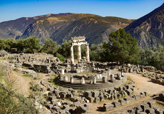 Delphi - Greece - Ancient Site. Spiritual site at Delphi, Greece Royalty Free Stock Image