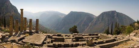 delphi greece orakel Arkivfoto