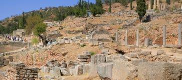 delphi greece panorama Royaltyfria Foton