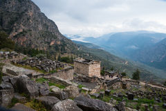 Delphi, Greece. Ruins of the ancient city Delphi, Greece Royalty Free Stock Images