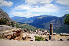 Delphi in Greece Stock Images
