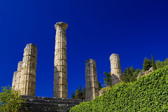 delphi greece tempel Royaltyfri Bild