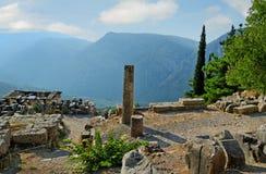 Delphi, Greece. Temple of Apollo in Delphi, Greece Royalty Free Stock Photography
