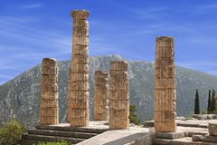 Delphi kolumny zdjęcia stock
