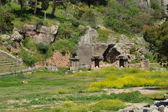 Delphi Pythian Stadium arkivbilder