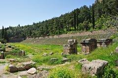Delphi Pythian Stadium royaltyfria bilder