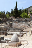 Delphi ruins, Greece. Delphi  ancient ruins,  Omphalos Greece Stock Images