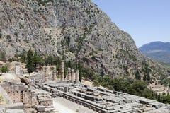 Delphi Ruins, Greece. Temple of Apollo at Delphi Greece Royalty Free Stock Photos