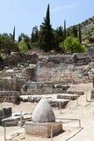 Delphi Ruins Grekland Arkivbilder