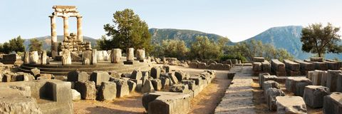 Delphi sanctuary Stock Images