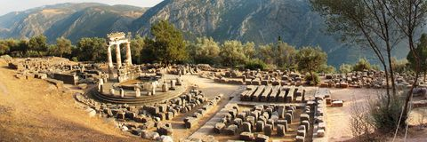 Delphi sanctuary Royalty Free Stock Images