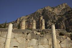 Delphi - tempel av Apollo arkivbild
