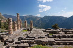 Delphi, Temple of Apollo Stock Images