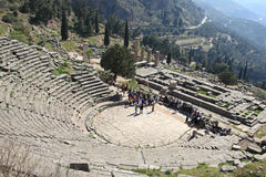 Delphi Tholos at late afternoon Stock Photo