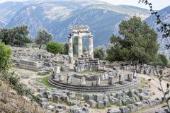 Delphi Tholos och omgivning, Delphi Greece Fotografering för Bildbyråer